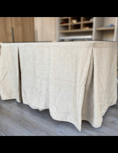Cabecero  de matrimonio de madera con vinilo
