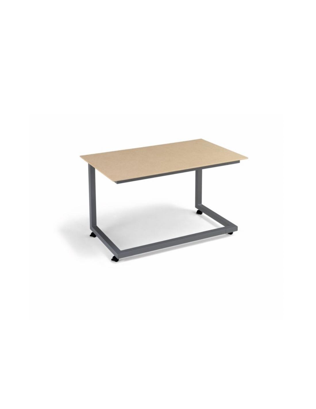 Mesa rectangular de madera maciza de olmo