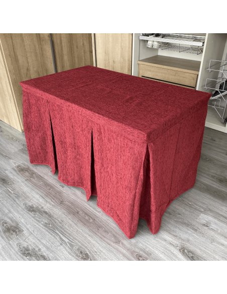 Mesa comedor madera extensible con cristales