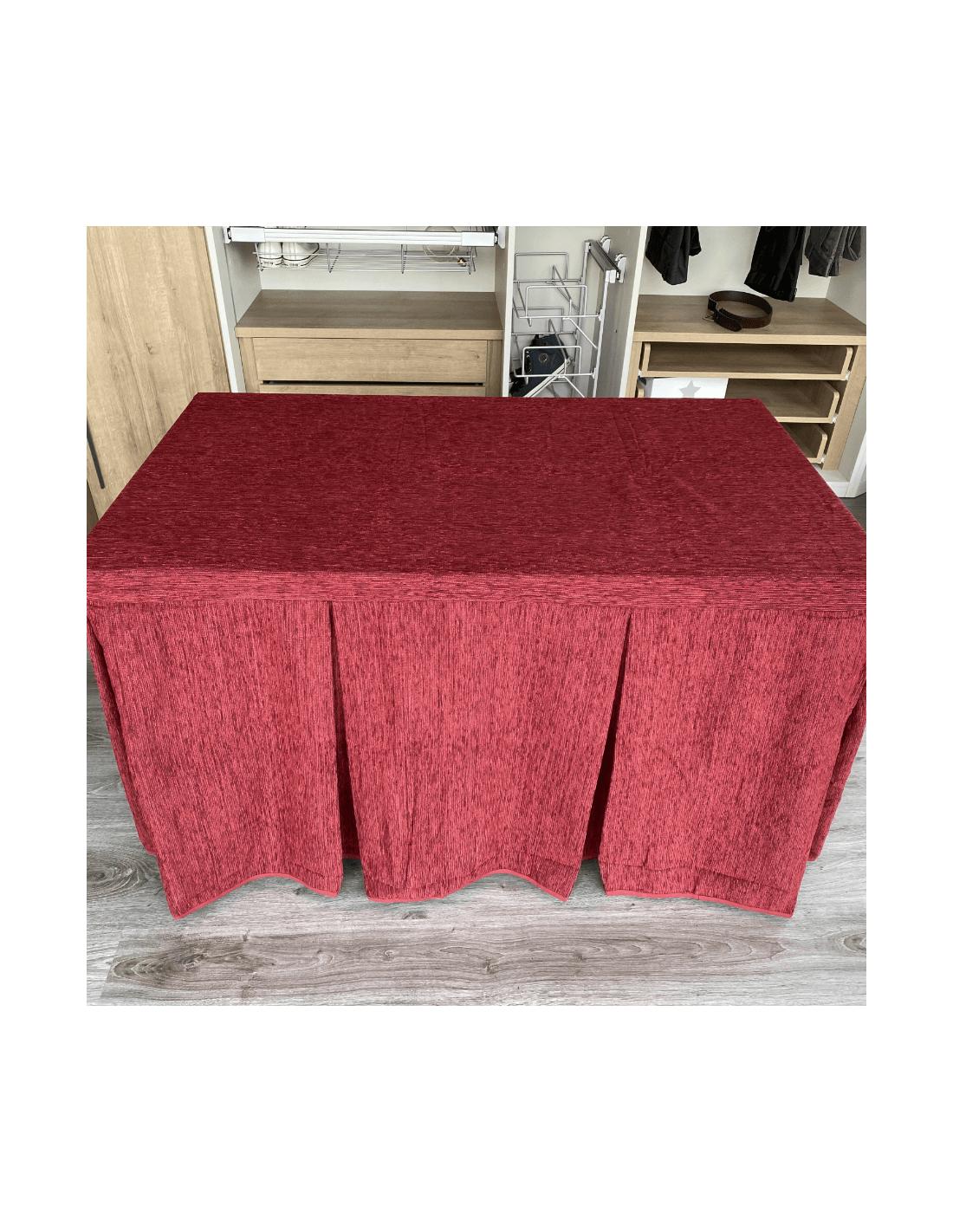 mesa de comedor de madera extensible con cristales decorativos moderna