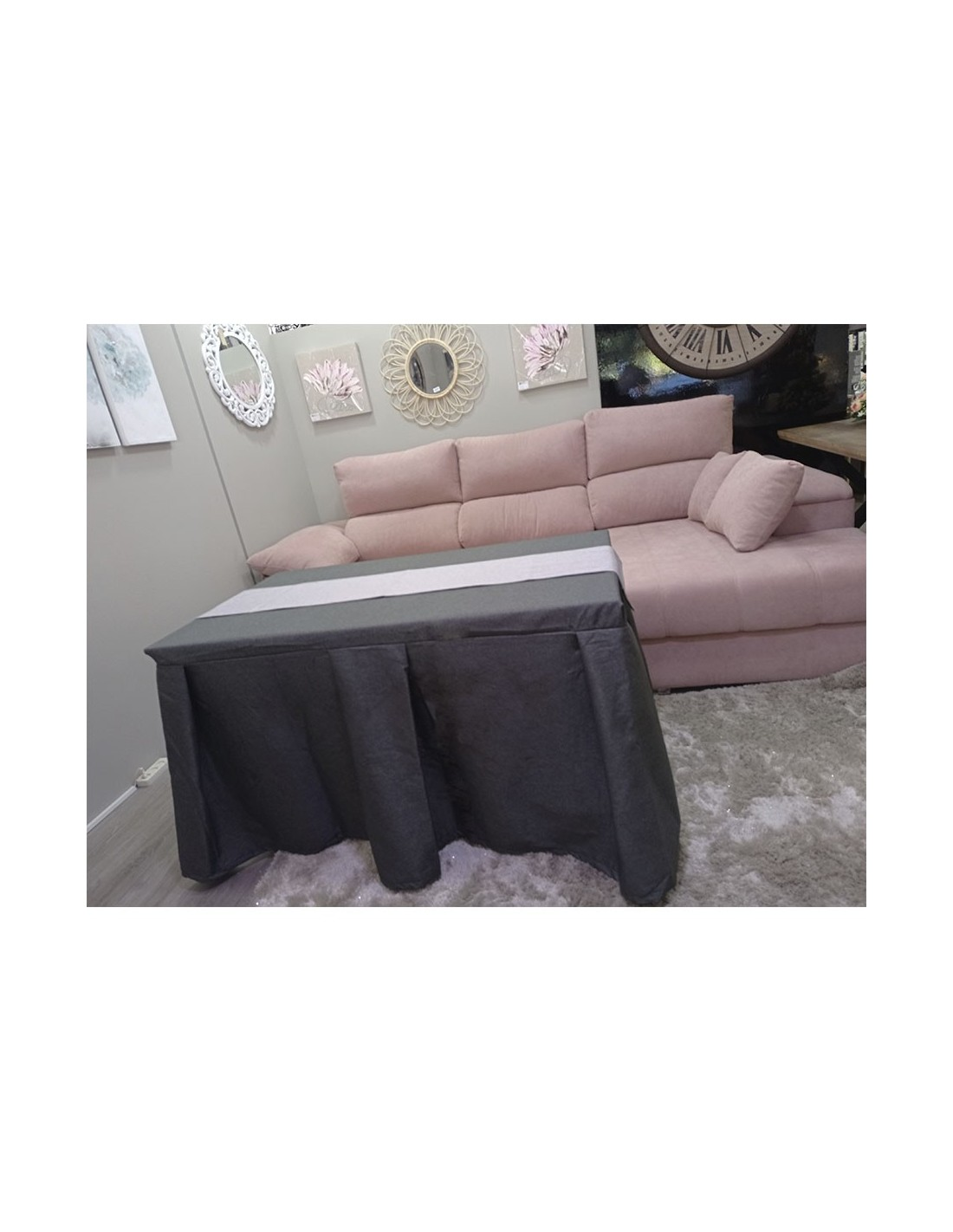 Sofá 3 plazas 2 asientos extraibles-reclinables