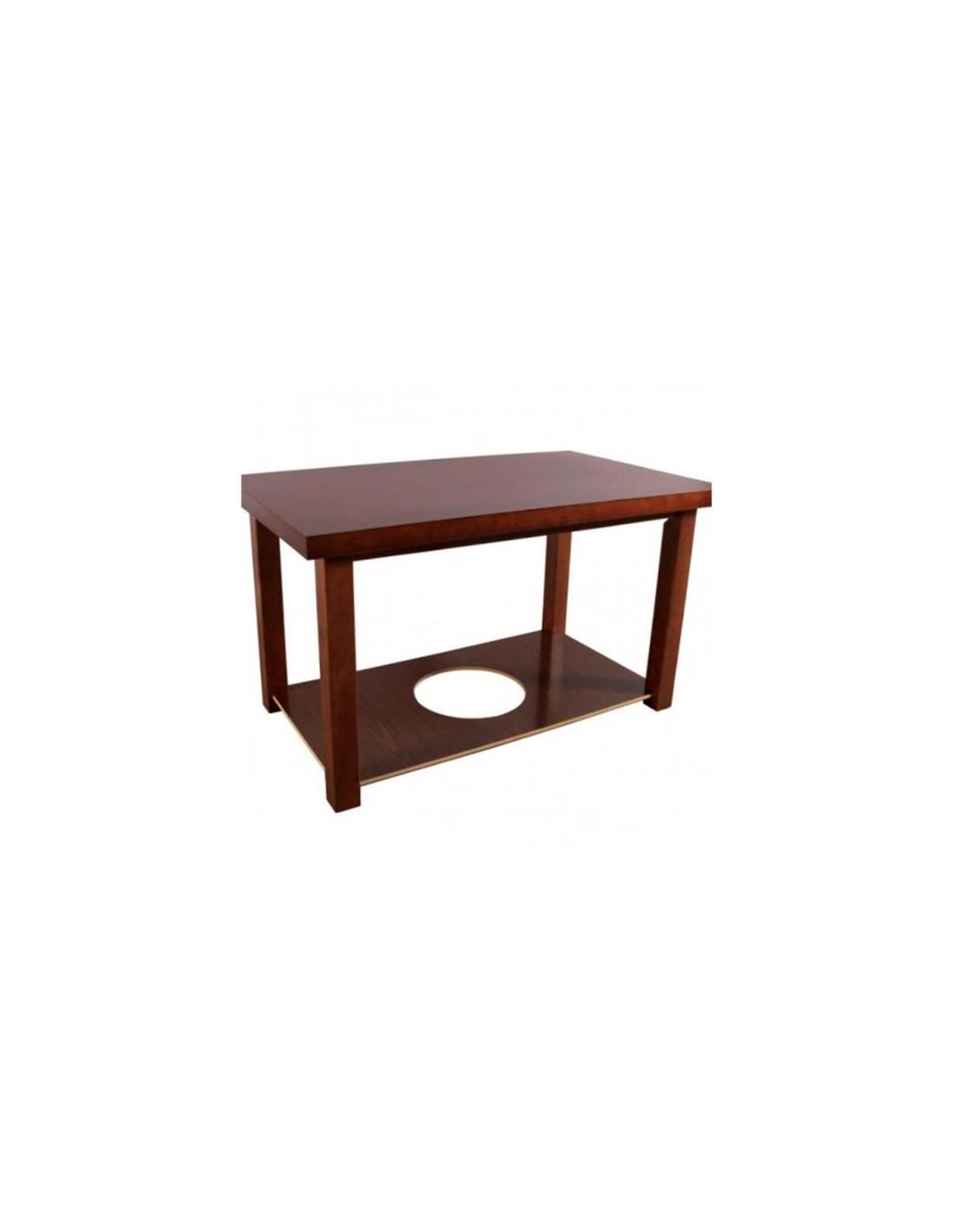mesa de comedor redonda cristal fume patas poliresina negra en forja